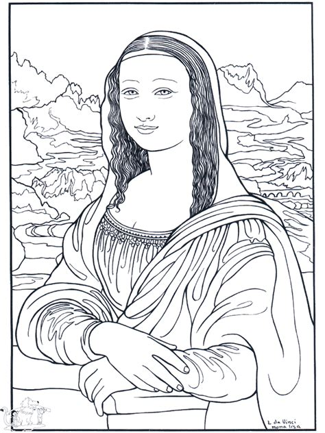painter da vinci art coloring pages