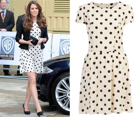 Get Look Kate Middletons Topshop Tunic Dress by Kate Middleton Wears Topshop Dress For Harry Potter Studio