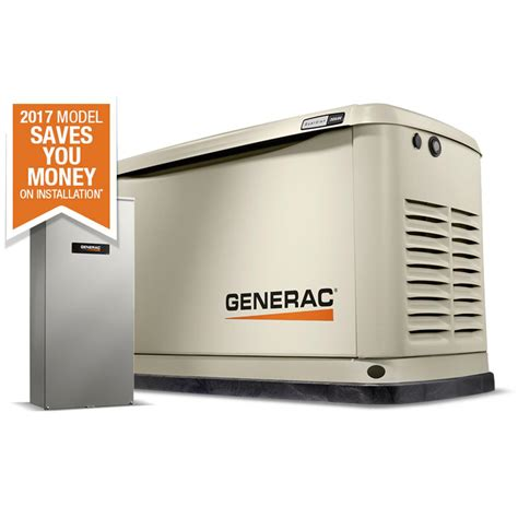 generac 20 000 watt lp 18 000 watt ng air cooled