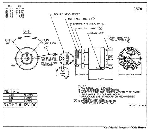 universal ignition switch diagram mercury outboard