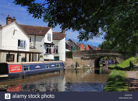 the boat inn narrowboats by the boat inn pub at gnosall in
