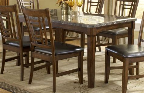 black granite top dining table set portland black marble top dining table set black chairs