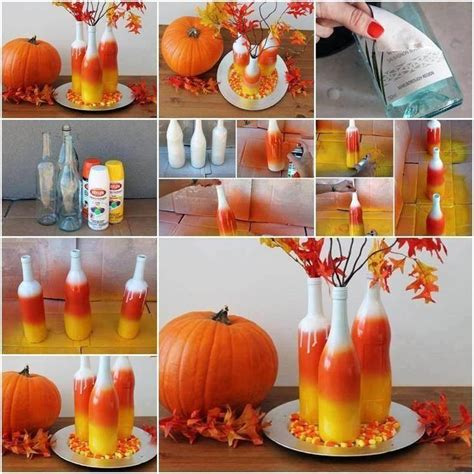 make your own fall decorations create your own painted corn vases fall