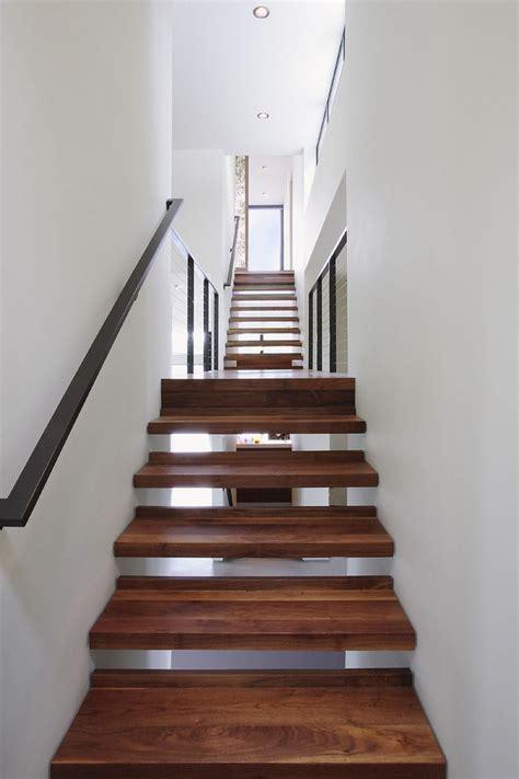See through stairs, dark wood