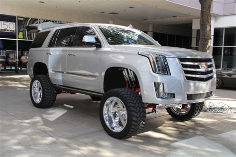 cadillac escalade 2017 pearl white sema 2015 day one feature trucks coverage