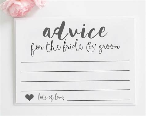 Wedding Advice wedding advice cards printable advice for the and