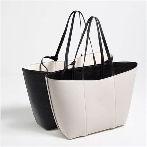 Zara Shoping Tote Bag Sc6589 reversible tote bags collection ss16 zara united