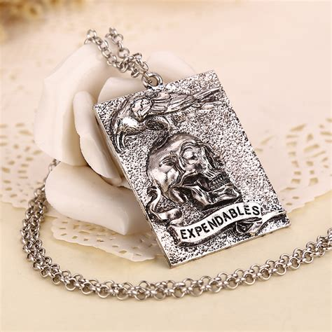 tattoo pendant the expendables 3 necklace sylvester stallone death skull
