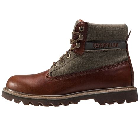 canvas mens boots caterpillar saga canvas mens boots in brown olive