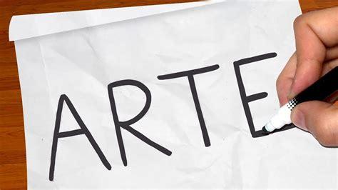 desenho arte como transformar a palavra quot arte quot em um desenho