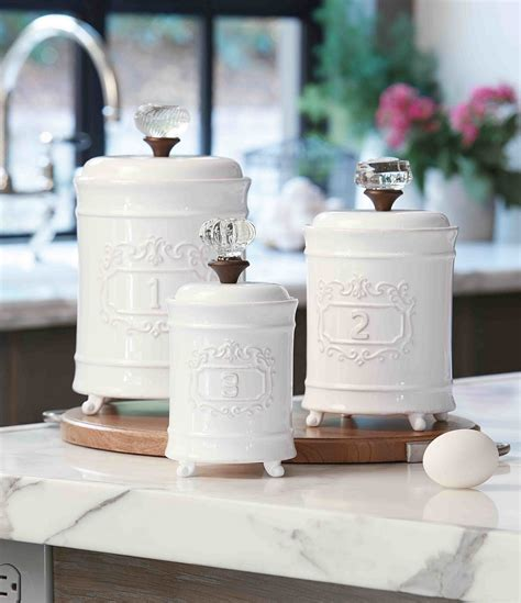 dillards kitchen canisters mud pie 3 piece farmhouse circa vintage doorknob canister set dillards