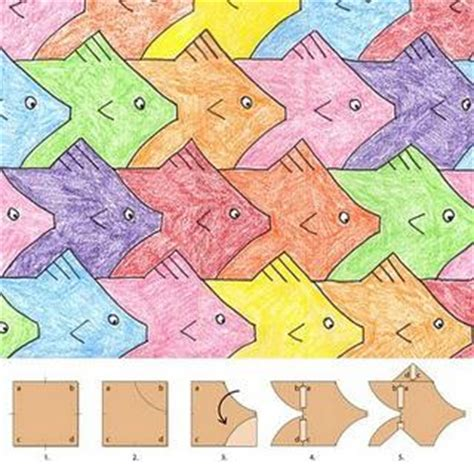 tessellation fish template fish tessellation paperblog
