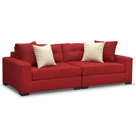 kroehler couch venti red 2 pc sofa value city furniture