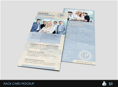Uprinting Rack Card Template by Business Rack Card Template By Idesignstudionet Graphicriver