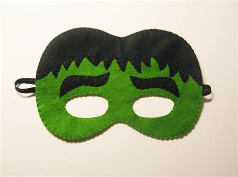 pattern for felt superhero mask green hulk superhero felt mask childrens comic costume for