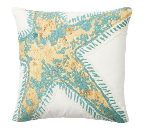 starfish rug pottery barn starfish icon embroidered pillow cover pottery barn