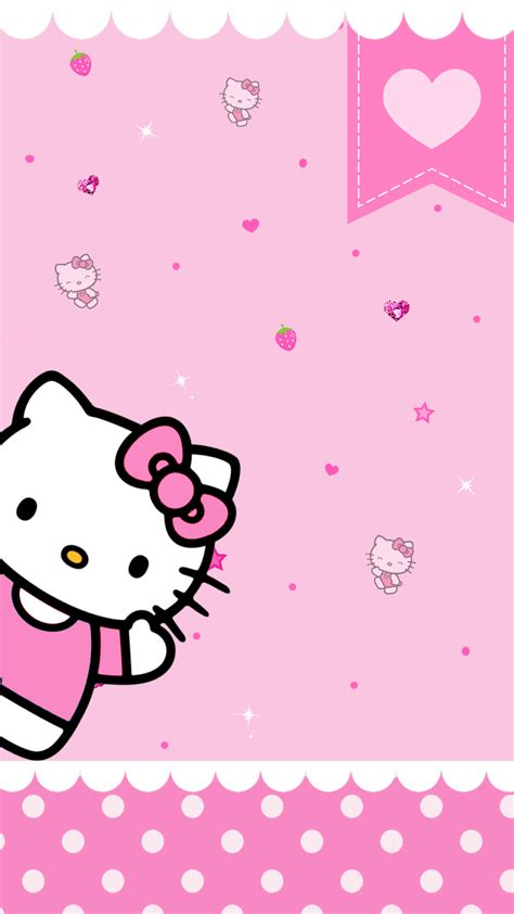 wallpaper hello kitty pink for iphone pink hello kitty wallpapers 62 wallpapers wallpapers 4k