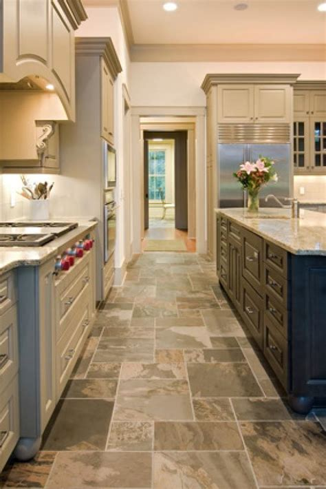 kitchen flooring idea slate kitchen flooring afreakatheart