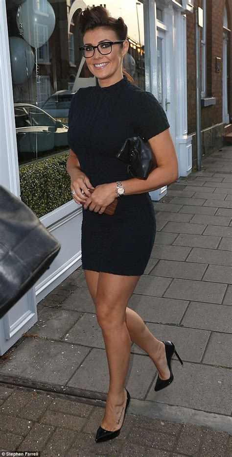 kym marsh 39 shows off her curves in leather pencil skirt kym marsh in lbd for night out with real housewives of