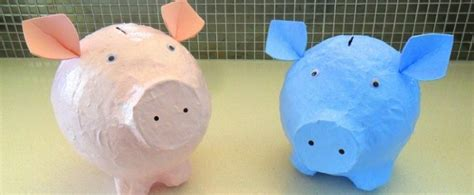 How To Make A Paper Mache Piggy Bank - inspire to save with these piggy bank crafts