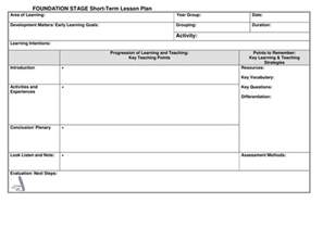 lesson plan template uk eyfs lesson plan template by noaddedsugar teaching