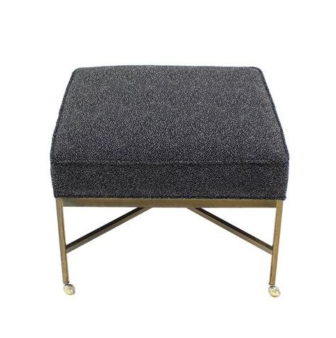 x ottomans large solid brass x base ottoman new upholstery for sale