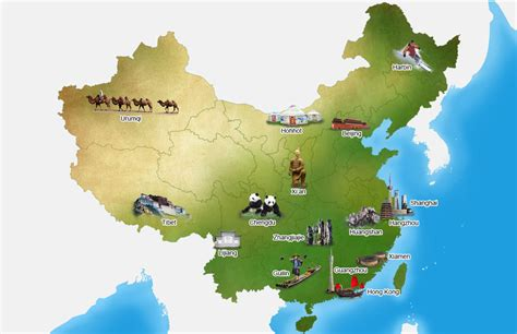 top attractions map maps update 18001312 tourist attractions map in china