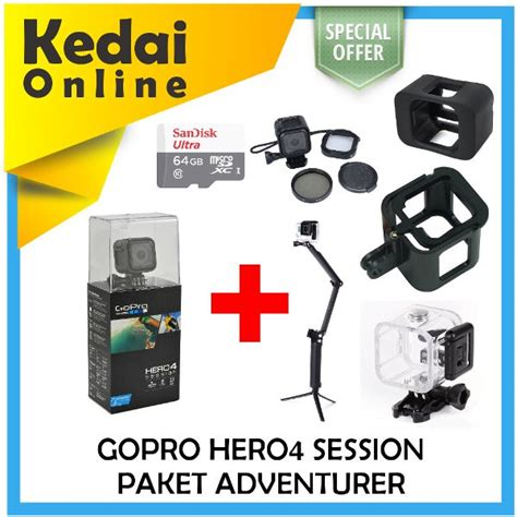 Topi Gopro By New Playclotink Limited jual beli gopro 4 session paket adventurer