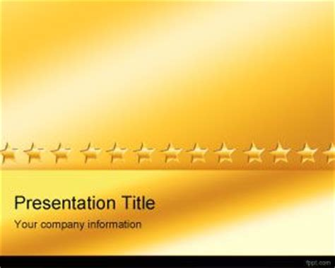 gold stars powerpoint template ppt template