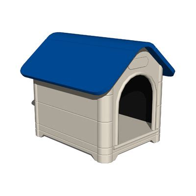 dog house plastic dog house set b 3d model formfonts 3d models textures