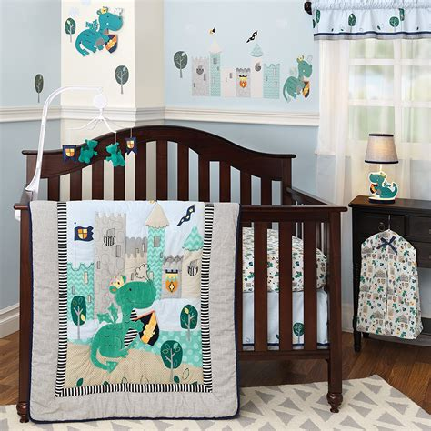 Dragon Crib Bedding Set Infant Baby Quilt Sheet Dust Nursery Cot Bed Sets