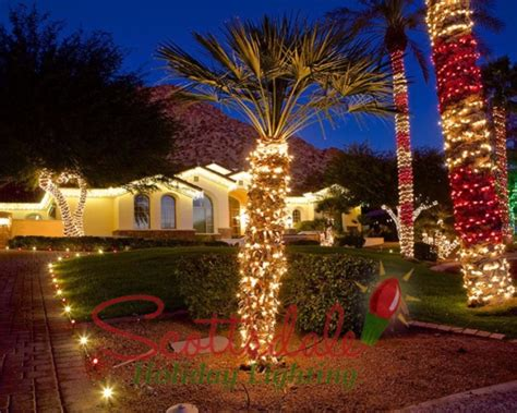 photos scottsdale christmas light installation