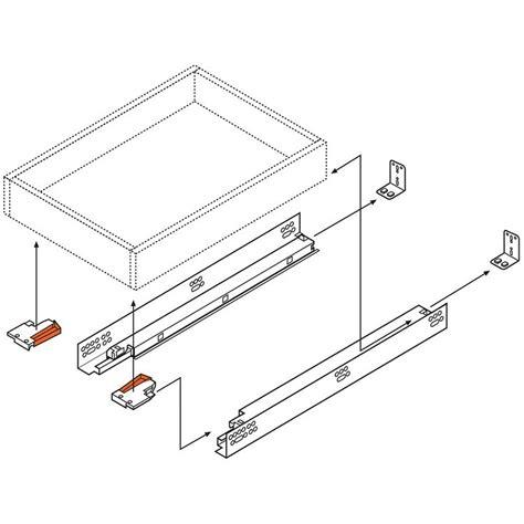 blum undermount drawer slides 12 blum 563f3050b 12in tandem plus blumotion 563f full ext