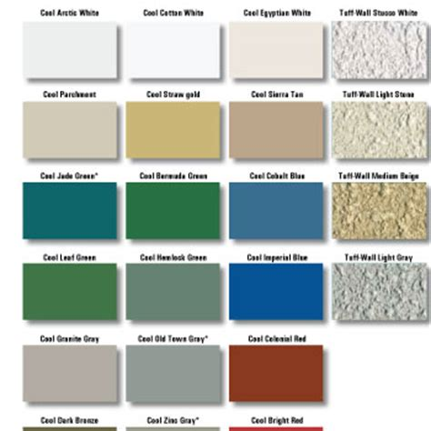 mbci color chart mbci kynar color chart panel profiles