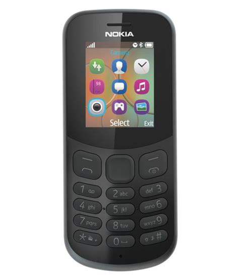 nokia 130 ds 2017 black feature phone at low