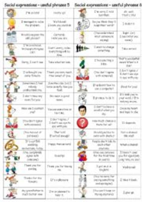 Stimulus And Response Worksheet Answers by Social Expressions Useful Phrases 5 6
