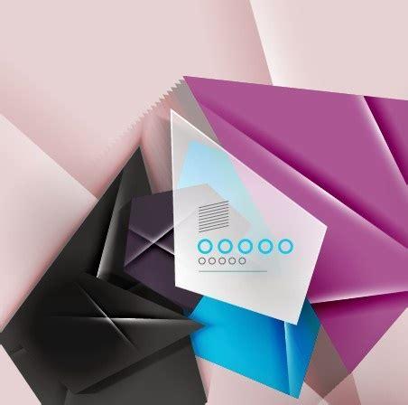 Origami Shapes Geometric Shapes - geometric shapes origami background vector free vector in