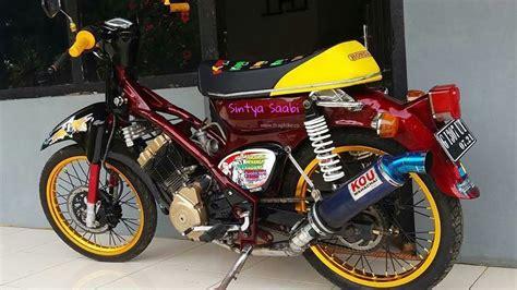 Knalpot Satria Fu 150cc mesinkejam honda c70 bureng satria fu 150cc motor banter unik classic