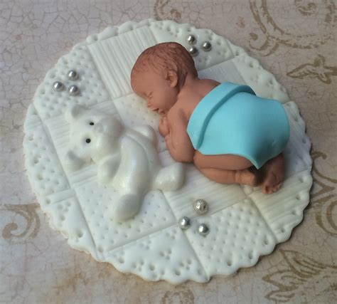Baby Shower Cake Toppers For Sale by Baby Boy Shower Fondant Cake Topper Baby Shower