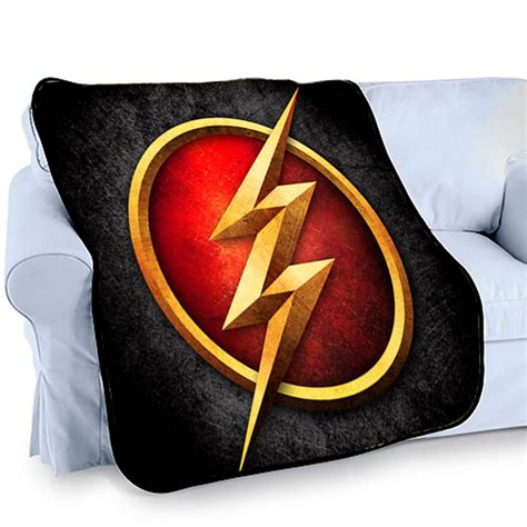 the flash logo superhero printed photo bed throw fleece blanket fatboy studio