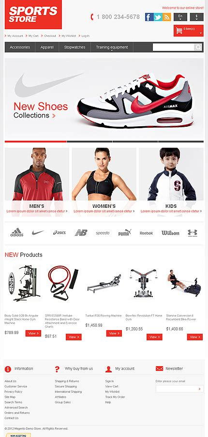 layout building instructions magento template 41759 sports store responsive magento theme