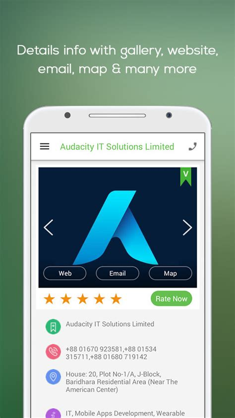 Finder Android Directory App Template By Audacity It Solutions Codecanyon App Review Template