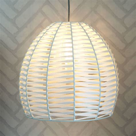 Woven Ceiling by White Woven Dome Ceiling Pendant By Quirk
