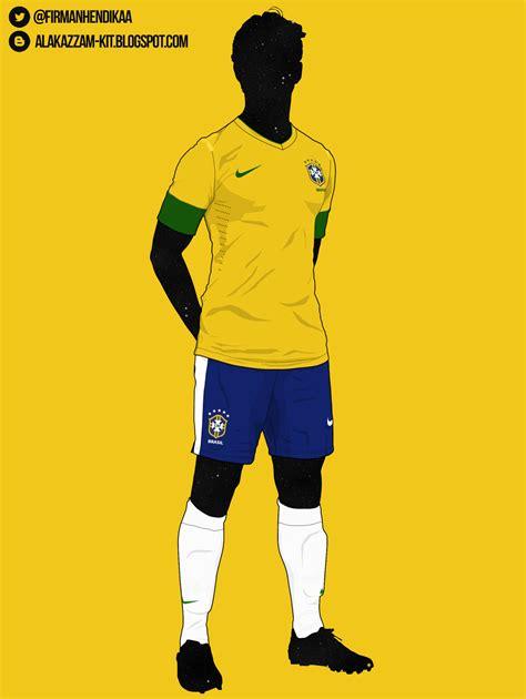 Kaos Club Bola Padang 28298 brazil national football team 2012 2013 home kit nike