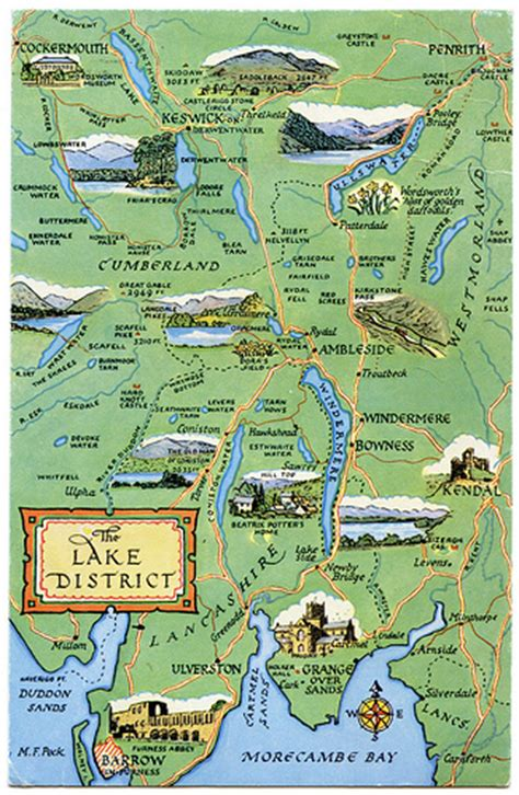map uk unit 12 lakes farm postcard map of the lake district flickr photo