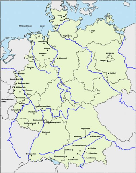 map usaf bases us bases germany map