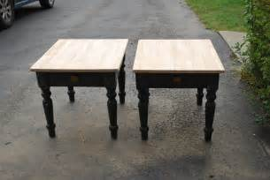 table refinish ideas refinished end tables a craig s list makeover guinness