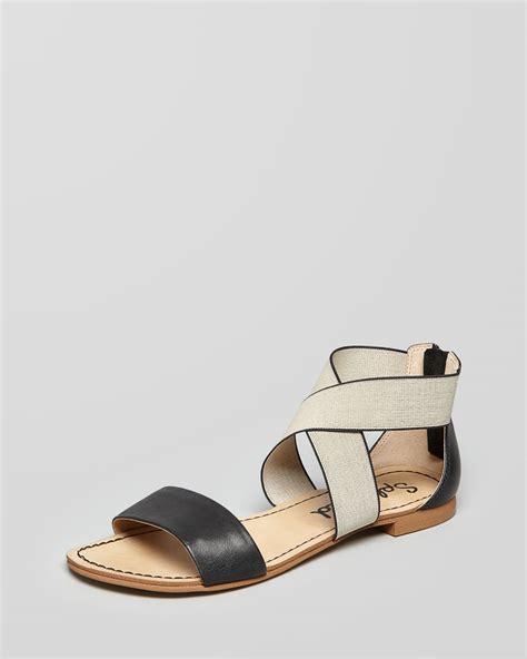Sandal Elastis Black splendid sandals congo elastic flat in black black lyst