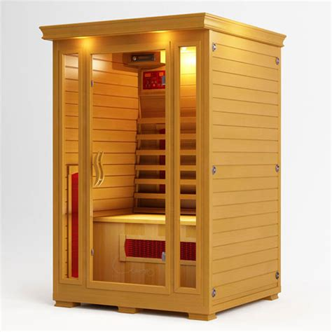 Detox Box Infrared Sauna by New Luxo 2 Person Ceramic Heater Far Infrared Indoor Detox