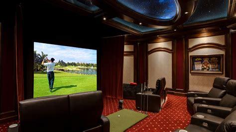 home theater design orlando fl elan transforms a golf simulator game room into a home